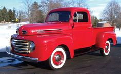 I may have to re-think painting mine blue! 1950 Ford Pickup, Old Ford Pickups, 1951 Ford Truck, Vintage Pickup Trucks, Classic Pickup Trucks, Old Ford Trucks, Cool Trucks, Big Trucks, Hot Rod Trucks