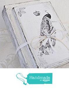 UNIKAT handmade BÜCHERDEKO 'Pfau' Dekobücher Buchstütze Dekoobjekt Bücherstapel von der Dragonflys Home https://www.amazon.de/dp/B071H3KTGS/ref=hnd_sw_r_pi_dp_RnrrzbXTQRW08 #handmadeatamazon