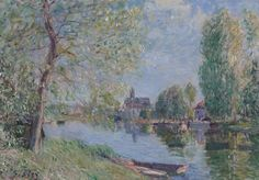 Spring at Moret on the Loing River, 1891. Alfred Sisley