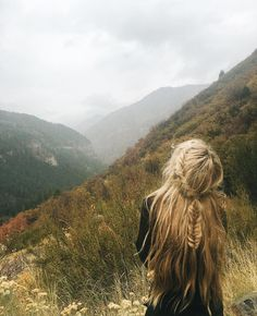 A rainy October day in the mountains.  braided long hair love