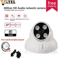 (31.30$)  Watch more here  - HD Audio Dome IP Camera 720p/960p/1080P P2P IR-CUT 4pcs array leds CCTV Camera Night Vision Outdoor Home Security Camera System