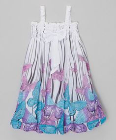 9ed69dbeba36 Love this Blue Butterfly Baby Doll Dress - Infant
