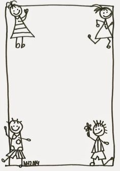 Sempre criança Picture Borders, Page Borders, Borders For Paper, Borders And Frames, Teacher Binder Organization, School Border, Kindergarten Portfolio, Boarder Designs, English Worksheets For Kids