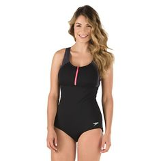 Image for Zip Front Touchback (Plus Size) - Speedo Endurance+ from Speedo USA