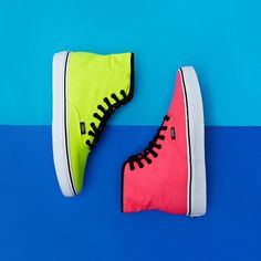 Neon Vans High Tops   CLICK THIS PIN if you want to learn how you can EARN MONEY while surfing on Pinterest
