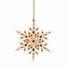 Lenox Christmas Ornaments China Jewels Snowflake Ornament - 824290