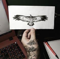 Army Tattoos, Eagle Tattoos, Leg Tattoos, Arm Band Tattoo, Nature Tattoo Sleeve, Best Sleeve Tattoos, Neck Tattoo For Guys, Tattoos For Guys, Kleiner Adler Tattoo