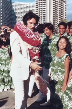 The Aloha way is with a lei! (posted from Maui, Hawaii. We love Elvis!)