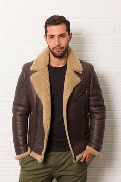 Jacket Meilleures Tableau Les Sheepskin Images Du Bombardier 208 00nwx5