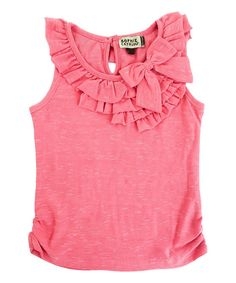 Pink Ruffle Bow Top - Toddler & Girls #zulily *so cute
