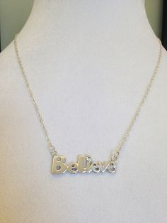 A personal favorite from my Etsy shop https://www.etsy.com/listing/239063177/sterling-silver-believe-necklace-with-cz