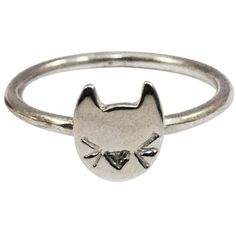 Mei-Li Rose Cat Ring (105 AUD) ❤ liked on Polyvore featuring jewelry, rings, accessories, cat, aneis, black ring, black sterling silver ring, cat ring, black jewelry and black cat jewelry