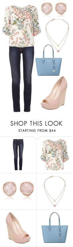 """""""Untitled #157"""" by morelandg ❤ liked on Polyvore featuring Tory Burch, Billie & Blossom, Monica Vinader, Michael Kors, Jessica Simpson and MICHAEL Michael Kors"""