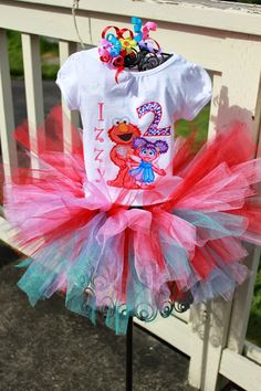 Elmo and Abby Cadabby Birthday Outfit Elmo by IzzyBsAccessories