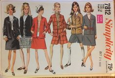 VTG 7812 Simplicity 1968 misses' jacket skirt by ThePatternParlor