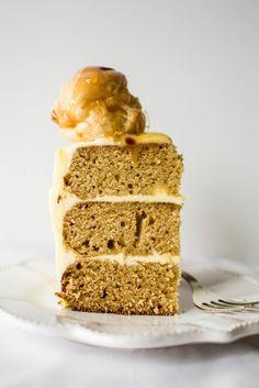 salted caramel croquembouche cake