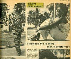Fashion in Ghana in the 1960's. Vivacious Vic  #Ghana #GoldCoastGhana #Africa