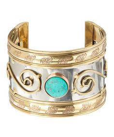Another great find on #zulily! Turquoise & Two-Tone Swirl Cuff #zulilyfinds