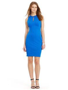 Keyhole Ponte Sheath Dress - Lauren Short Dresses - RalphLauren.com