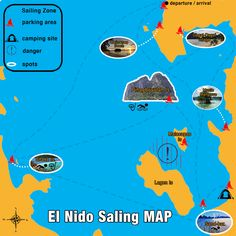Campsite, Philippines, Mystic, Sailing, Map, Beach, Camping, The Beach, Location Map