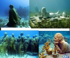 cancun underwater museum.... an amazing destination to #Tour #CancunShuttle @Gail Regan Truax://www.oscarcancunshuttle.com/contacto.html  #CancunTour