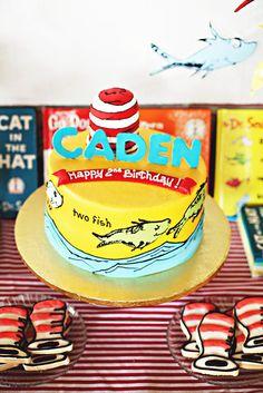 "Photo 4 of 26: Dr. Seuss / Birthday ""Hooray! It's Caden's 2nd Birthday"" | Catch My Party"
