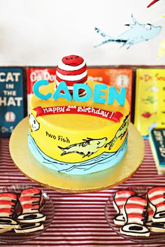 Love this Dr. Seuss cake