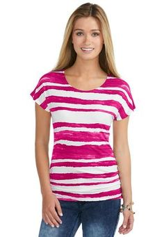 Cato Fashions Watercolor Striped Tee #CatoFashions #catosummerstyle