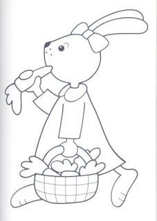 Easter Coloring Pages, Animal Coloring Pages, Coloring Books, Felt Crafts Patterns, Applique Patterns, Quilt Patterns, Vintage Embroidery, Hand Embroidery, Embroidery Designs