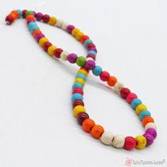 Πολύχρωμη πάστα τυρκουάζ πάστα ημιπολύτιμες χάντρες 6mm Beaded Necklace, Beaded Bracelets, Beads, Jewelry, Beaded Collar, Beading, Jewlery, Pearl Necklace, Jewerly