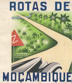 mapa das estyradas de moçambique art deco 1938