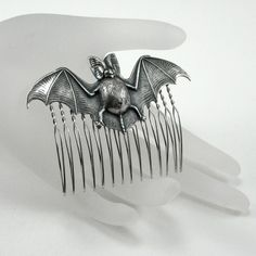 Batty Hair Comb  SPOOKY HAIR GLAM  Antiqued by ghostlovejewelry, $18.00