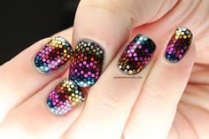 Polish All the Nails: Stained Glass Glitter Nails  I am so obsessed with this technique!