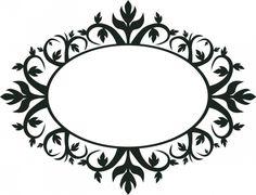 Moldura oval ornamentais vetor clip-art | Vectores de Domínio Público