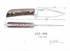 Knife Template, Knife Patterns, Diy Knife, Utility Knife, Knife Sheath, Custom Knives, Sketch Design, Swiss Army Knife, Knife Making