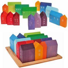 Grimm's Kleine Häuser- Bauspiel, Holzspielzeig für Kleinkinder, 64,00 Euro auf Amazon.de