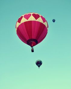 hot air heart balloon