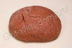 Рецепт: Имбирное тесто для пряников (шоколадное)