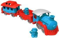 Toy Train Preten Play Kids Conductor Blue, Red Choo Locomotive
