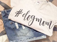 Dog Mom Tee/Dog Mom T-Shirt/DogMom Tee/dogmom by NOTICECo on Etsy
