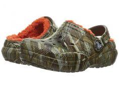 Crocs Kids Classic Lined Clog Realtree Max-5 (Toddler/Little Kid) (Chocolate/Orange) Kids Shoes