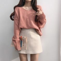 Korean Girl Fashion, Ulzzang Fashion, Harajuku Fashion, Cute Fashion, Skirt Fashion, Cute Skirt Outfits, Cute Comfy Outfits, Girl Outfits, Fashion Outfits