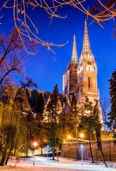 Zagreb - Croatia Zagreb Croatia, Cathedral, Building, Illustration, World, Buildings, Cathedrals, Illustrations, Construction