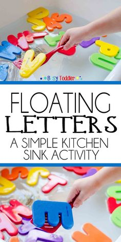 Floating Letters Floating Letters: A simple kitchen sink activity for toddlers and preschoolers; a quick and easy activity The post Floating Letters appeared first on Toddlers Diy. Toddler Learning Activities, Alphabet Activities, Infant Activities, Preschool Activities, Kids Learning, Teaching Toddlers Letters, Games For Preschoolers Indoor, Indoor Activities, Learning Spanish