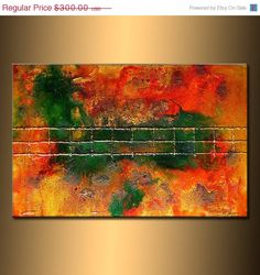 ORIGINAL Textured Abstract painting by newwaveartgallery on Etsy, $270.00