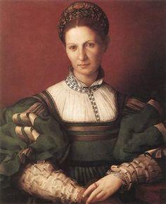 Portrait of a lady in green - Agnolo Bronzino