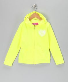 Take a look at this Yellow Glitter 'Love' Zip-Up Hoodie - Toddler & Girls by Star Ride on #zulily today!