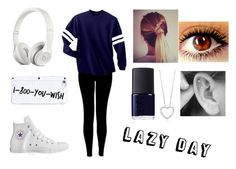 """""""Lazy Day"""" by sadiemay42 ❤ liked on Polyvore featuring Typhoon, Converse and NARS Cosmetics"""