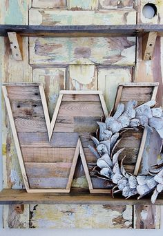 If you are a beginner on wooden crafts and want to try something more simple and easy, try out this project. Simply create a pallet wood alphabetical letter of your choice and place it on the wall. It will look like an exquisite piece of art that will be so unique, warm and adorable.