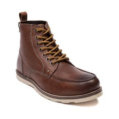 Shop for Mens Crevo Buck Boot, Caramel, at Journeys Shoes. Sure to be your new casual boot go-to, the stylish and versatile Buck Boot from Crevo features a genuine leather upper, moc toe stitch, hiker-style lace closure, cushioned insole, and rubber traction outsole. Available only online at Journeys.com!